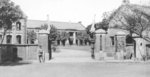The entrance of the headquarters of the Kiirun Heavy Artillery Brigade of the Japanese Taiwan Army, Kiirun, Taiwan, circa 1920