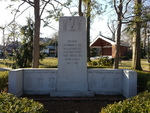 Memorial dedicated to townsmen who were lost during WW2, Rutherford, New Jersey, United States, 24 Mar 2013