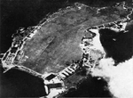 Aerial view of Ford Island, Oahu, US Territory of Hawaii, 1930; seen in Oct 1965 issue of US Navy publication Naval Aviation News
