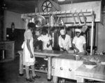 African-American US WAAC cooks prepared dinner for the first time in new kitchen at Fort Huachuca, Arizona, United States, 5 Dec 1942