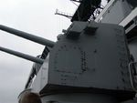 One of the many secondary gun turrets aboard battleship New Jersey, 14 Jun 2004