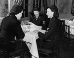 WAVES enlisted personnel dining at Hotel Bedford, New York City, New York, United States, 4 Jan 1943