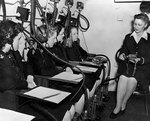 WAVES personnel in the low pressure chamber of  Naval Air Station, Jacksonville, Florida, United States, 14 Oct 1943, photo 1 of 3