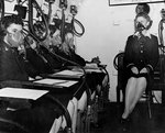 WAVES personnel in the low pressure chamber of  Naval Air Station, Jacksonville, Florida, United States, 14 Oct 1943, photo 3 of 3