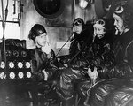 WAVES personnel receiving briefing in preparation of flight simulation in chill chamber, Naval Air Station, Jacksonville, Florida, United States, 15 Oct 1943