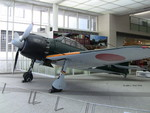 A6M Zero Model 52 fighter on display at the Yushukan Museum, Tokyo, Japan, 7 Sep 2009, photo 1 of 5