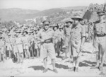 Major General Arthur Allen, commander of Australian 7th Division, and Lieutenant Colonel Murray Moten, commander of Australian 2/27th Infantry Battalion, Hammana, Lebanon, 2 Sep 1941