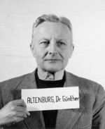 Mugshot of Günther Altenburg, Nov 1945