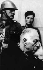 Antonescu at his trial, May 1946