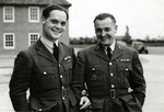 Douglas Bader and a Czechoslovakian pilot in England, United Kingdom, date unknown