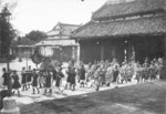 Emperor Bao Dai with his entourage, Hue, Annam, French Indochina, 1920s or 1930s