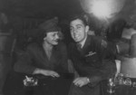 John Basilone and Carolyn Orehovic at the 400 Restaurant and Cocktail Lounge, Washington DC, United States, 30 Dec 1943