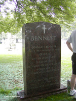Grave of Donald Bennett, West Point Cemetery, West Point, New York, United States, 22 Sep 2007