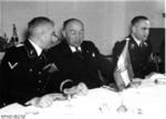 Werner Best with representative of the Hungarian police in Berlin, Germany, Feb 1939