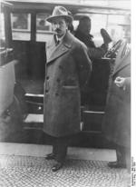 King Boris III of Bulgaria at Hotel Pristol, Berlin, Germany, Apr 1929