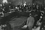 Subhash Chandra Bose speaking at the Greater East Asia Conference, Tokyo, Japan, 5 Nov 1943, photo 1 of 2