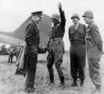 Dwight Eisenhower, George Patton, Omar Bradley, and Courtney Hodges, 25 Mar 1945