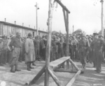 American generals touring Ohrdruf Concentration Camp, Gotha, Germany, 12 Apr 1945, photo 3 of 3