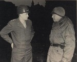 Bradley and Patton at Bastogne, 5 Apr 1945