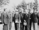US President Truman with Averell Harriman, George Marshall, Dean Acheson, John Snyder, Frank Pace, Jr., and Omar Bradley, Washington DC, United States, 18 Oct 1950