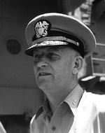 Rear Admiral Burke onboard a ship, 7 Aug 1951