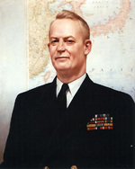 Portrait painting of Rear Admiral Burke by Sanji Nahmi, 1951