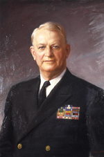 Portrait painting of Admiral Burke by Cedric Egeli, 1968