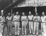 Captain Burke (third from left) with his US Navy Destroyer Squadron 23 captains at
