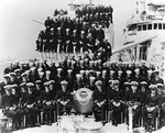 Officers and crew of destroyer Craven, circa 1938-1939; note Executive Officer Lieutenant Commander Arleigh Burke in front row, third from right