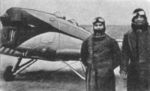 Irina Burnaia and Petre Ivanovici with an IAR-22 aircraft, 3 Jan 1935