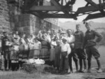 Ferdinand Catlos with Ukrainian civilians in Poland, Sep 1939, photo 1 of 3