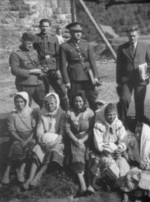 Ferdinand Catlos with Ukrainian civilians in Poland, Sep 1939, photo 2 of 3