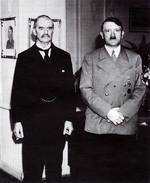 Chamberlain and Hitler, circa 1938