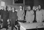 Chamberlain, Daladier, Hitler, Mussolini, and Ciano at the Munich Conference, Germany, 29 Sep 1938