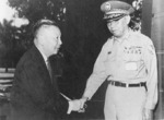 Chen Daqing shaking hands with Chiang Ching-kuo, Taiwan, Republic of China, 23 Sep 1966