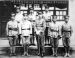 Chiang Kaishek with the graduates of the second class of the Whampoa Military Academy, Guangzhou, Guangdong Province, China, 6 Sep 1925
