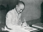 Chiang Kaishek signing the United Nations Charter, 24 Aug 1945