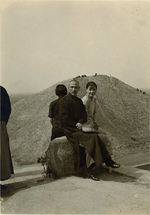 Chiang Kaishek and Song Meiling on vacation in northwestern China, 1936