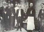 Chiang Kaishek with Japanese politicians Mitsuru Toyama (far left) and Tsuyoshi Inukai (center), Japan, 1929