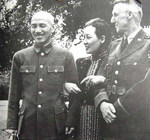 Chiang Kaishek, Song Meiling, and Joseph Stilwell at Maymyo, Burma, 19 Apr 1942, photo 3 of 3