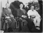 Chiang, Roosevelt, and Churchill at the Cairo Conference, Egypt, Nov 1943, photo 1 of 3