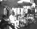Chiang Kaishek and his family at a reception at his estate in Taiwan, Republic of China, date unknown, photo 1 of 2