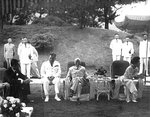 Chiang Kaishek and his family at a reception at his estate in Taiwan, Republic of China, date unknown, photo 2 of 2