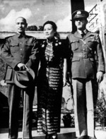 Chiang Kaishek, Song Meiling, and Claire Chennault, 1940s