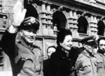 Chiang Kaishek and Song Meiling in front of the Presidential Office Building, Taipei, Taiwan, Republic of China, 1950s