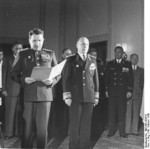 General Vasily Chuikov and Ambassador Vladmir Semyonov at the founding of East Germany, Berlin, 7 Oct 1949, photo 4 of 5