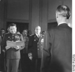General Vasily Chuikov and Ambassador Vladmir Semyonov at the founding of East Germany, Berlin, 7 Oct 1949, photo 5 of 5