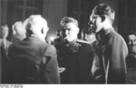 Vasily Chuikov and Hugo Hickmann at the founding of East Germany, Berlin, 7 Oct 1949