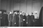 Vasily Chuikov, Hermann Kastner, and Otoo Grotewohl in Berlin, East Germany, 11 Nov 1949