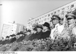 Erich Honecker, Leonid Brezhnev, and Vasily Chuikov at East German